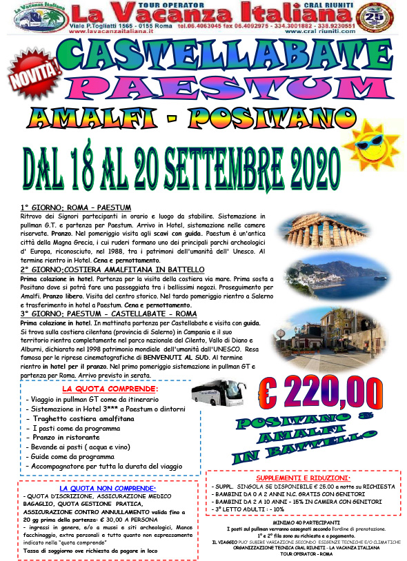Viaggi di gruppo - Offerte Weekend in Italia ...