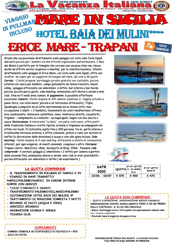 Viaggi di gruppo mareitalia mare in sicilia for Volantino acqua e sapone sicilia